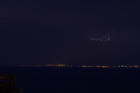 Blitz über Saudi-Arabien
