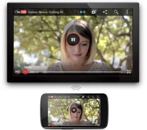 Android drahtlos mit TV verbunden (Quelle: google.com)