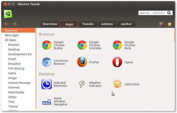 Google Chrome Stable im App Center (Quelle: ubuntu-tweak.com)