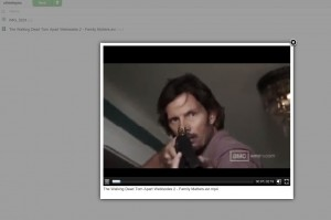 ownClouds Video Player: Walking Dead Webisode funktioniert
