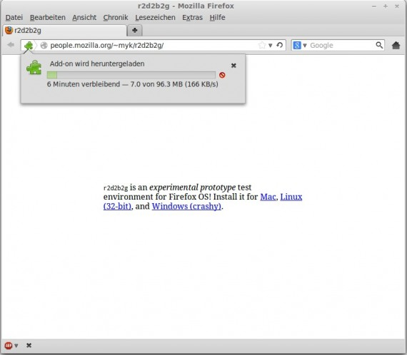 Emulator für Firefox OS