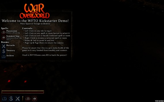 War for the Overworld: Spielbares Demo