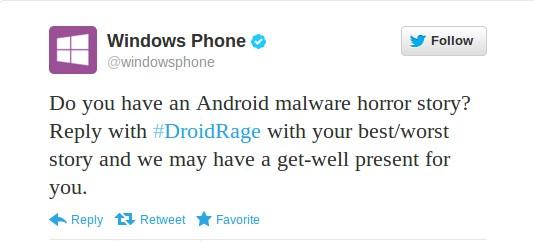 Microsoft trollt gegen Android