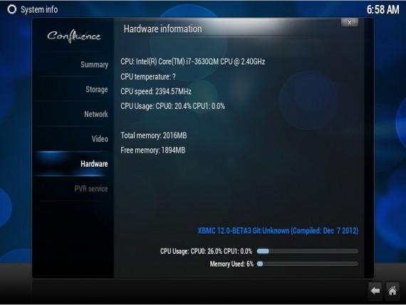 XBMC 12 Frodo Beta 3