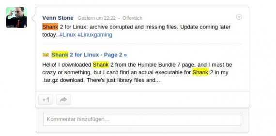 Shank 2 für Linux: Archiv kaputt