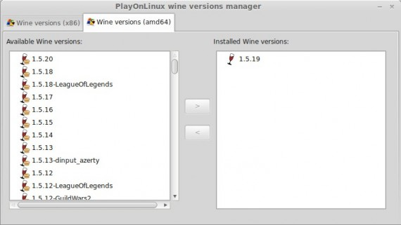 Wine 1.5.20 in PlayOnLinux