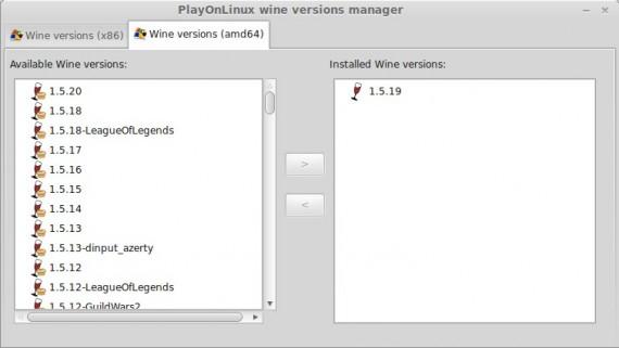 Wine 1.5.20 in PlayOnLinux