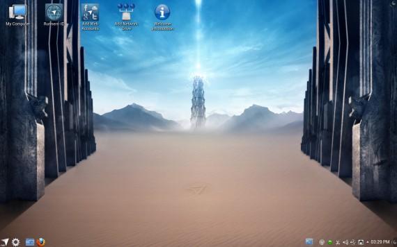 Netrunner 12.12: Desktop (Quelle: netrunner-os.com)