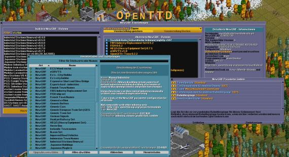 NewGRF-Konfiguration (Quelle: openttd.org)