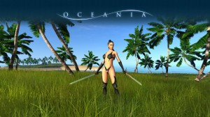 Oceania: Die Frau muss sich wohl erst noch Ausrüstung suchen ... (Quelle: kickstarter.com)