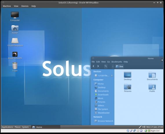 SolusOS 2 mit Consort Desktop (Quelle: solusos.com)