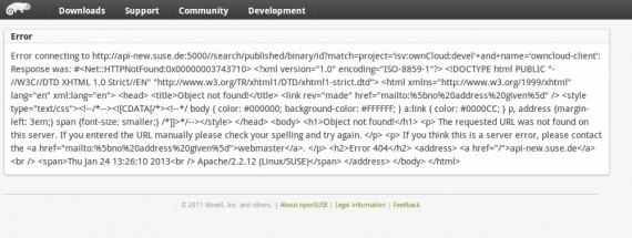 ownCloud-Seite für den Linux-Client: Wohl gerade etwas überfordert?