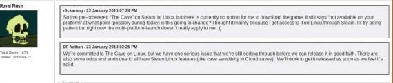 The Cave: Linux, sobald es stabil genug ist