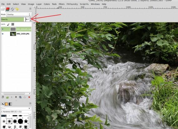 GIMP: Hochpass-Filter - eventuell etwas mit der Deckkraft spielen