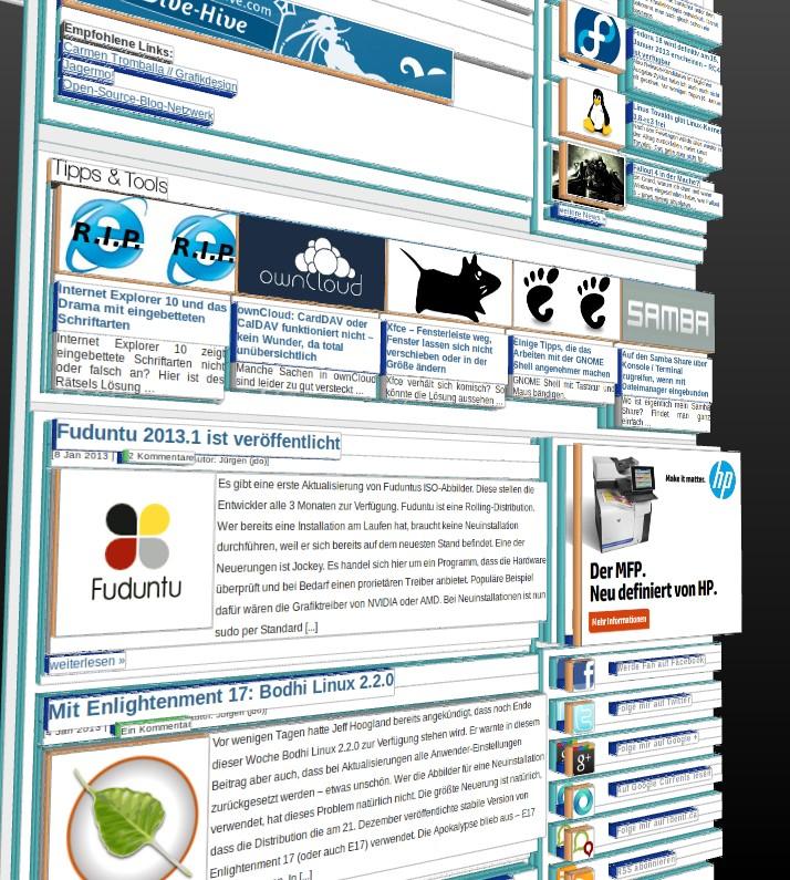 Mozilla Firefox: Entwickler-Tool 3D-Ansicht