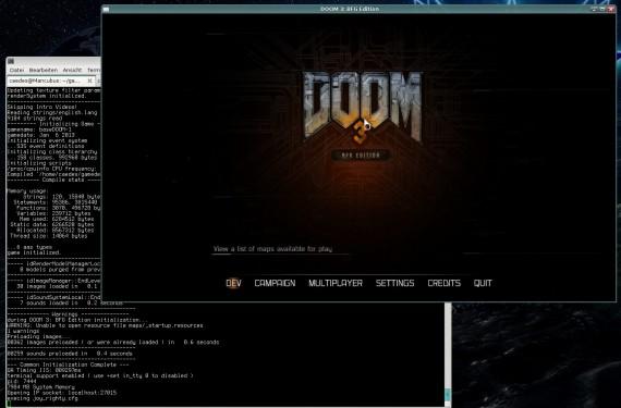 Doom 3 BFG Edition unter Linux (Quelle: holarse-linuxgaming.de)