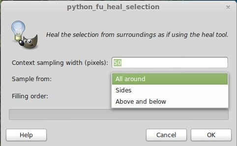 GIMP Heal Selection: Sample from