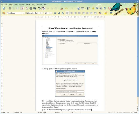 LibreOffice Personas (Quelle: artax.karlin.mff.cuni.cz)