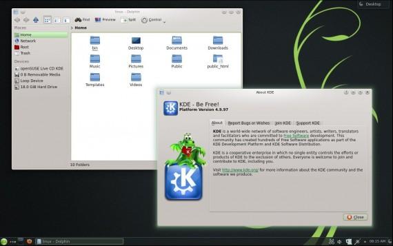 openSUSE 12.3 KDE: Dolphin