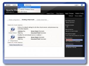 Apache Web-Management aus dem LAMP Stack (Quelle: turnkeylinux.org)