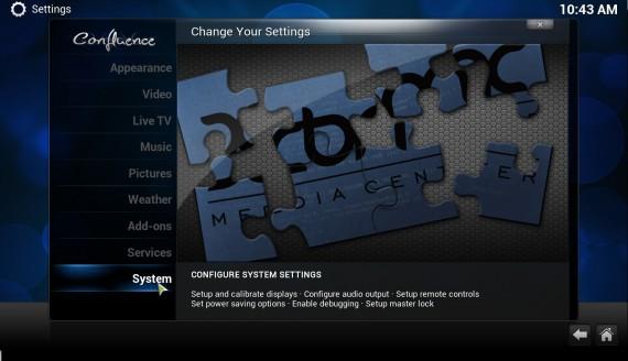 "XBMC 12.0 ""Frodo"": Systemkonfiguration"