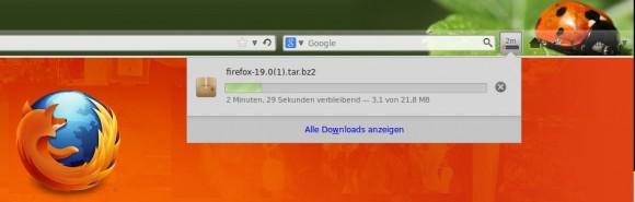 Firefox 20: Neue Download-Benachrichtigung