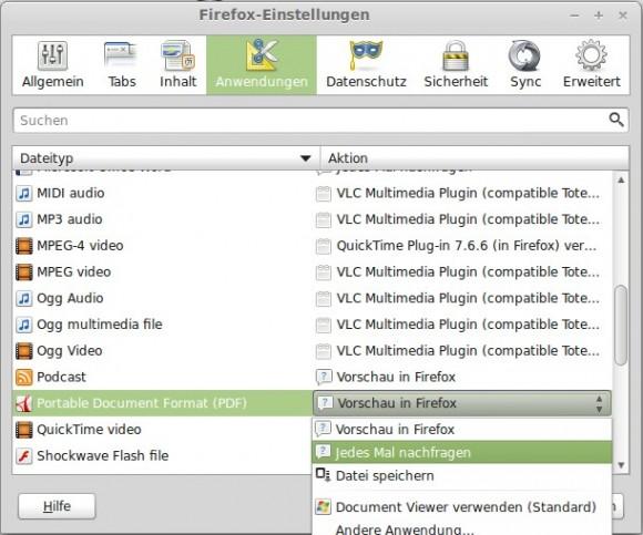 Firefox 19: Was tun mit PDF?