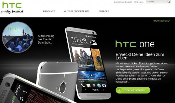 HTC One mit Aluminiumgehäuse