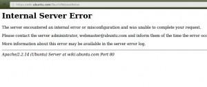 Internal Server Error ...
