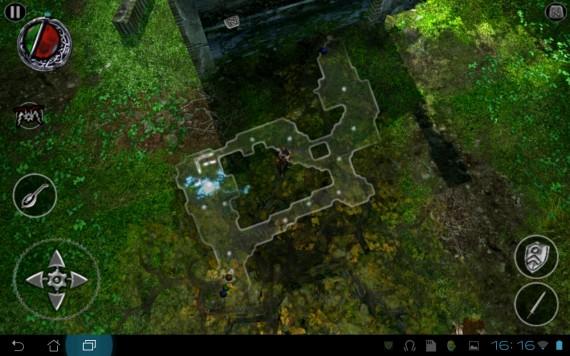 Bard's Tale für Android: übersichtliche Karte