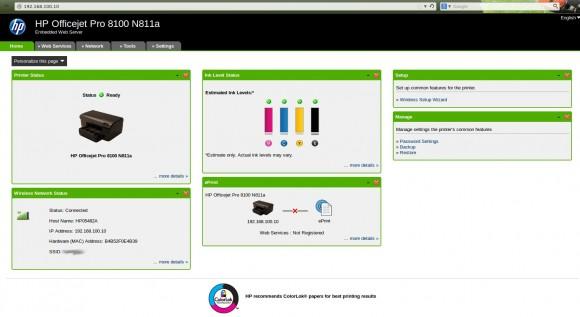 HP-Drucker via Browser konfigurieren