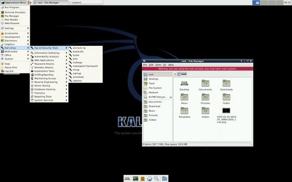 Kali trifft Raspberry Pi: Xfce