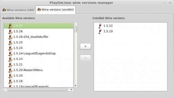 Wine 1.5.27 in PlayOnLinux