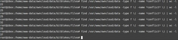 ownCLoud-Sync-Client produziert _conflict-Dateien