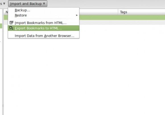 Firefox: Bookmarks als HTML exportieren