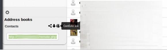 CardDAV-Link finden