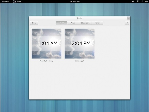 GNOME 3.8: Clocks