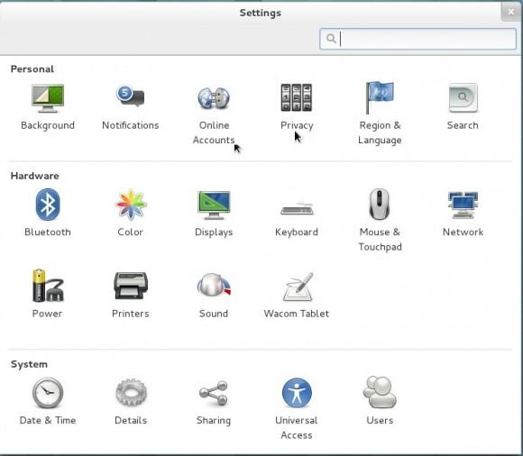 GNOME 3.8: Einstellungen