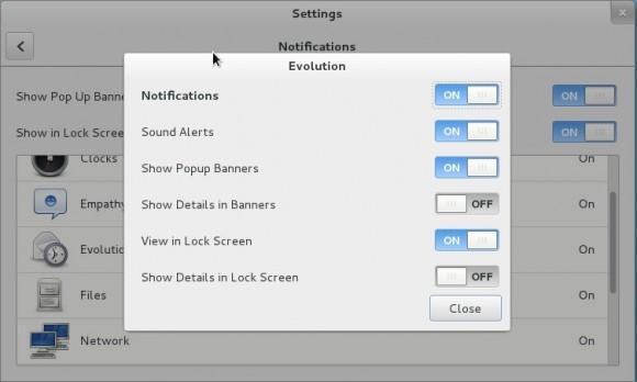 GNOME 3.8: Benachrichtungen - Evolution
