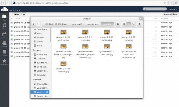 GNME 3.8: WebDAV zur ownCloud