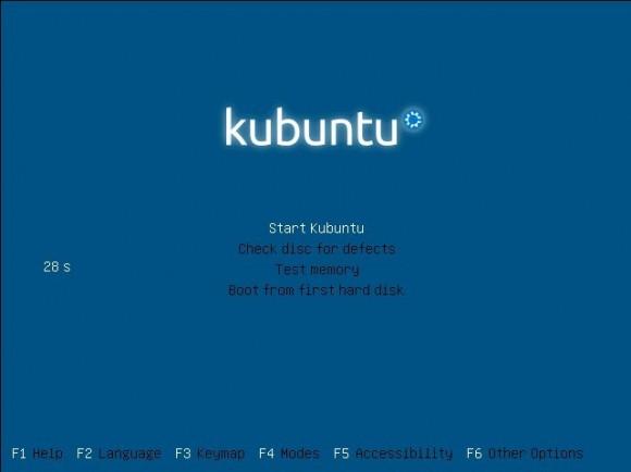 Kubuntu 13.04: Bootscreen
