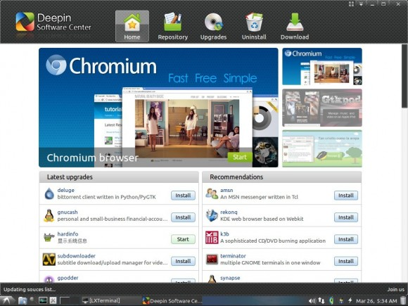 LXLE 12.04: Deepin Software-Center