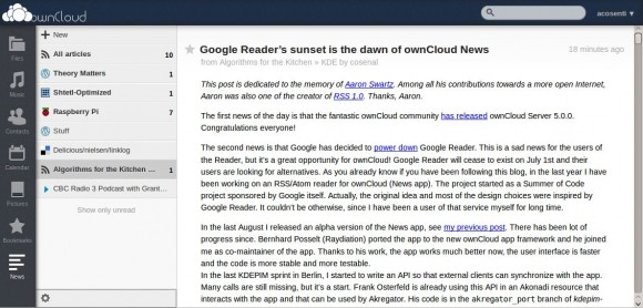 ownCloud News Reader (Quelle: algorithmsforthekitchen.com)