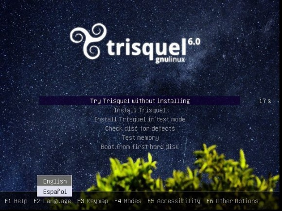 Trisquel 6: Bootscreen