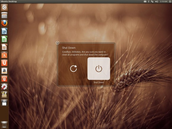 Ubuntu 13.04 Raring Ringtail: Herunterfahren