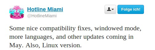 Hotline Miami für Linux im Mai!
