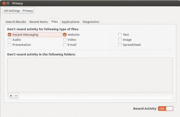 Ubuntu 13.04 Raring Ringtail: Privatsphäre einstellen