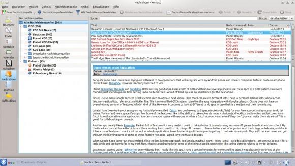 RSS-Reader Akregator
