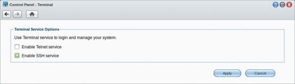 Synology: SSH-Dienst aktivieren