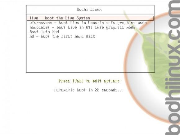 Bodhi Linux 2.3.0: Bootscreen